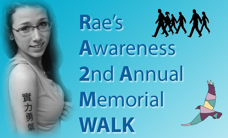 Rae's Awareness Walk..April 11th @ 1pm