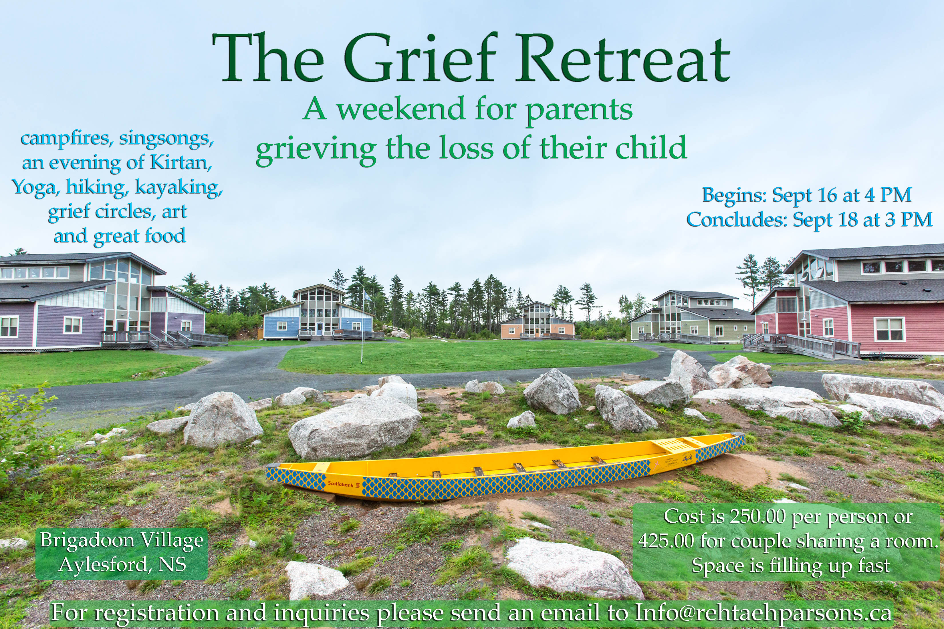 Grief Retreat ….Sept 16th – 18th